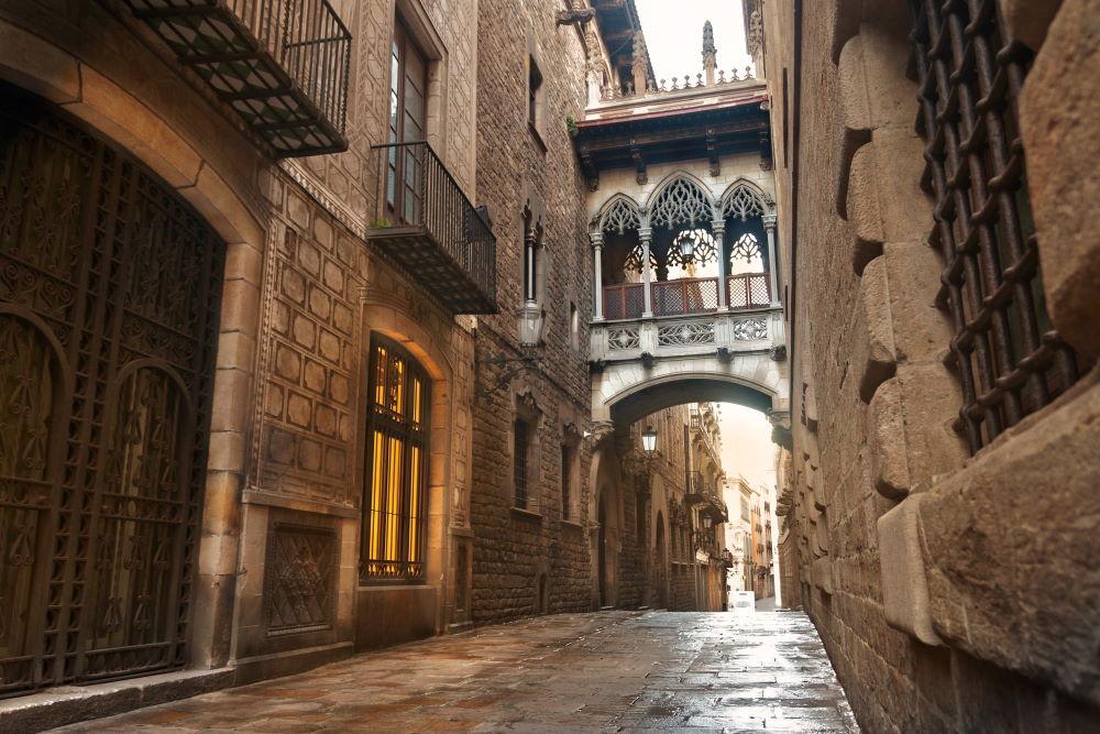 Фото: Готический квартал Барселоны