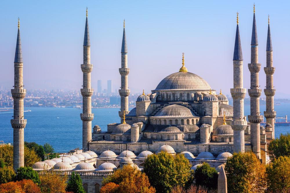 Фото: Голубая мечеть в Стамбуле (мечеть Султанахмет)