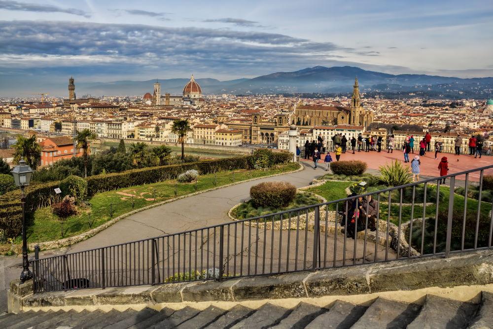 Фото: Площадь Микеланджело во Флоренции, Италия