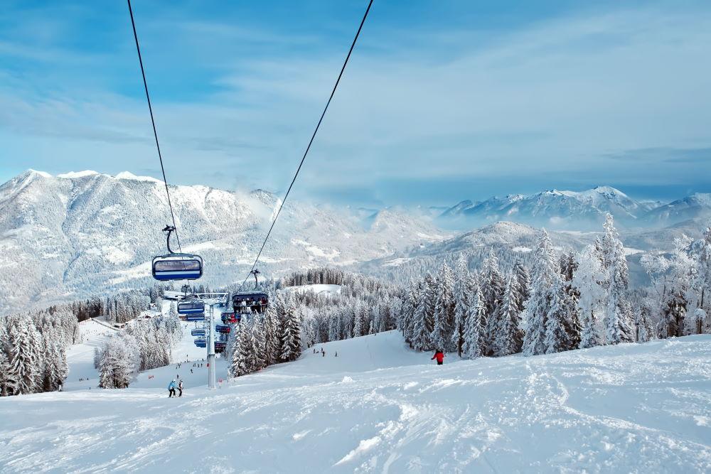 Фото: Лыжная трасса в Италии