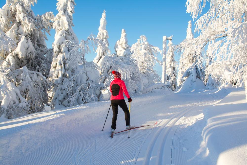 Фото: Горнолыжная трасса в Финляндии