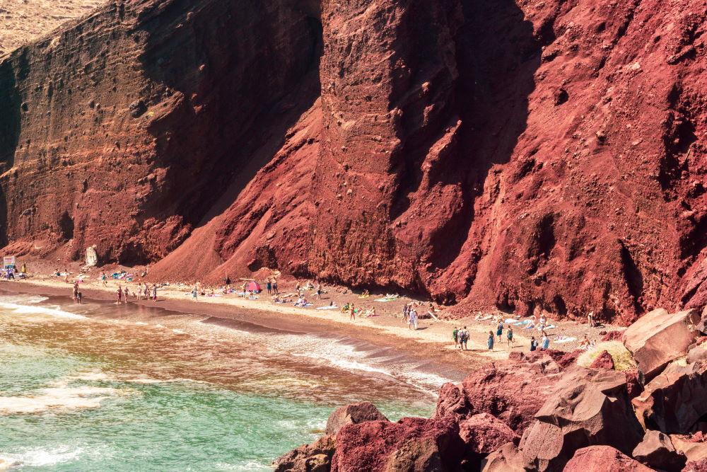 Фото: Красный пляж, Санторини