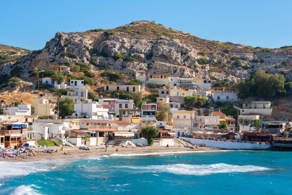 Фото: Пляж Матала на Крите
