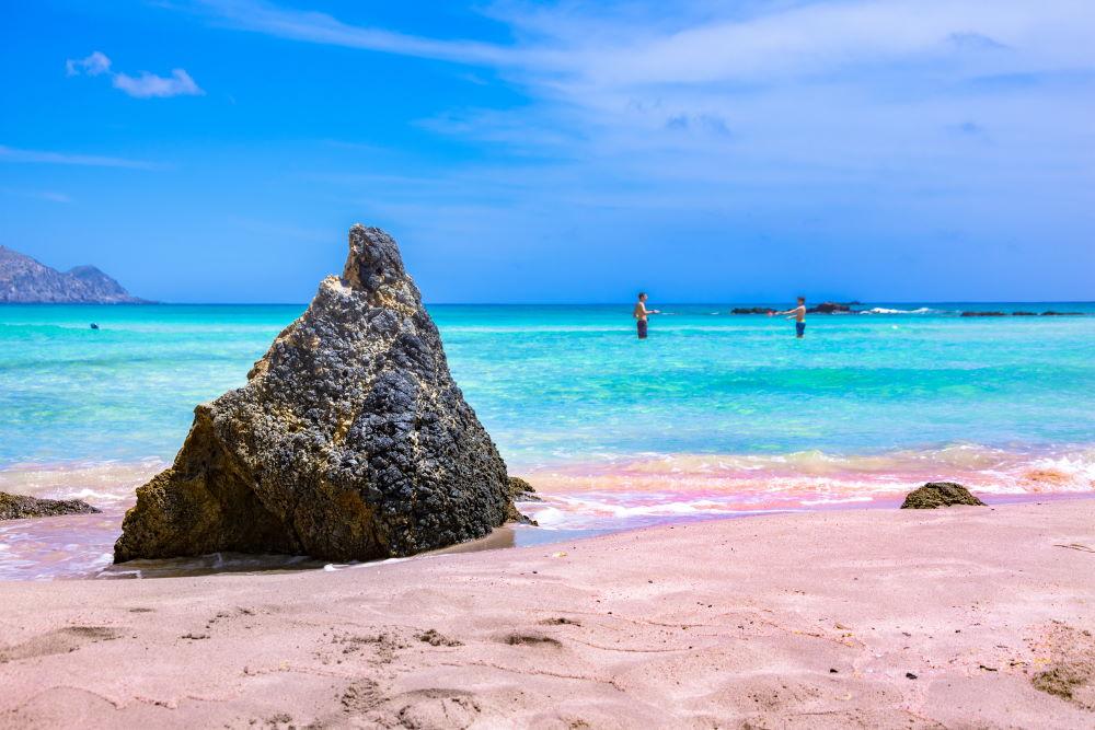 Фото: Элафониси, розовый пляж, Крит