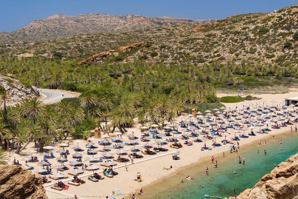 Фото: Пальмовый пляж Вай на Крите
