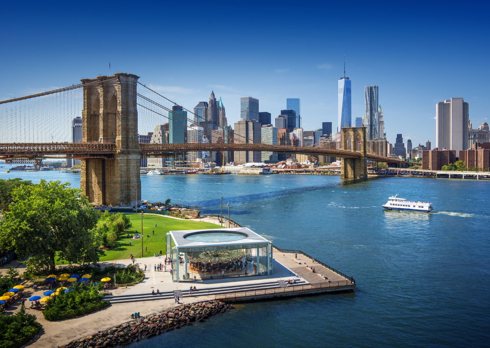Фото: Бруклинский мост, Нью-Йорк