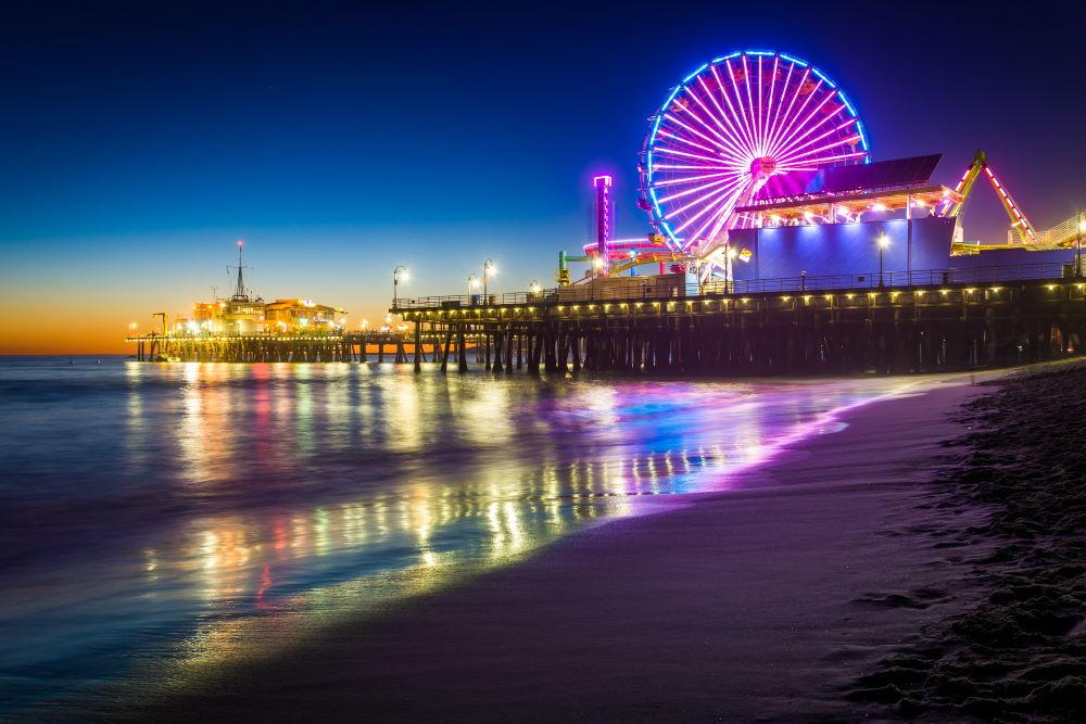 Фото: Пирс Санта Моники, Лос-Анджелес