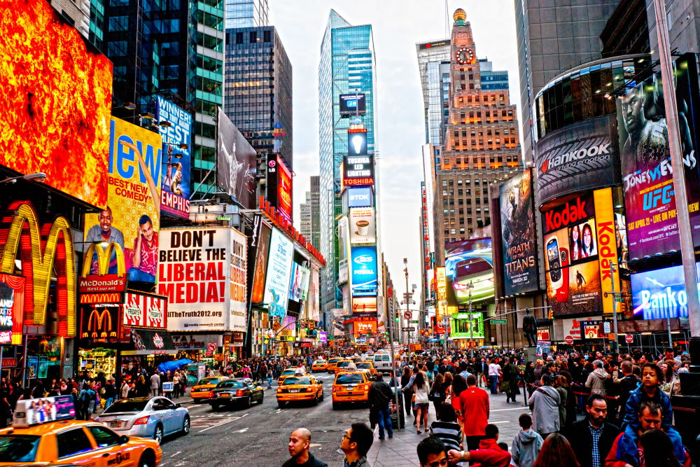 Фото: Таймс Сквер, Нью-Йорк