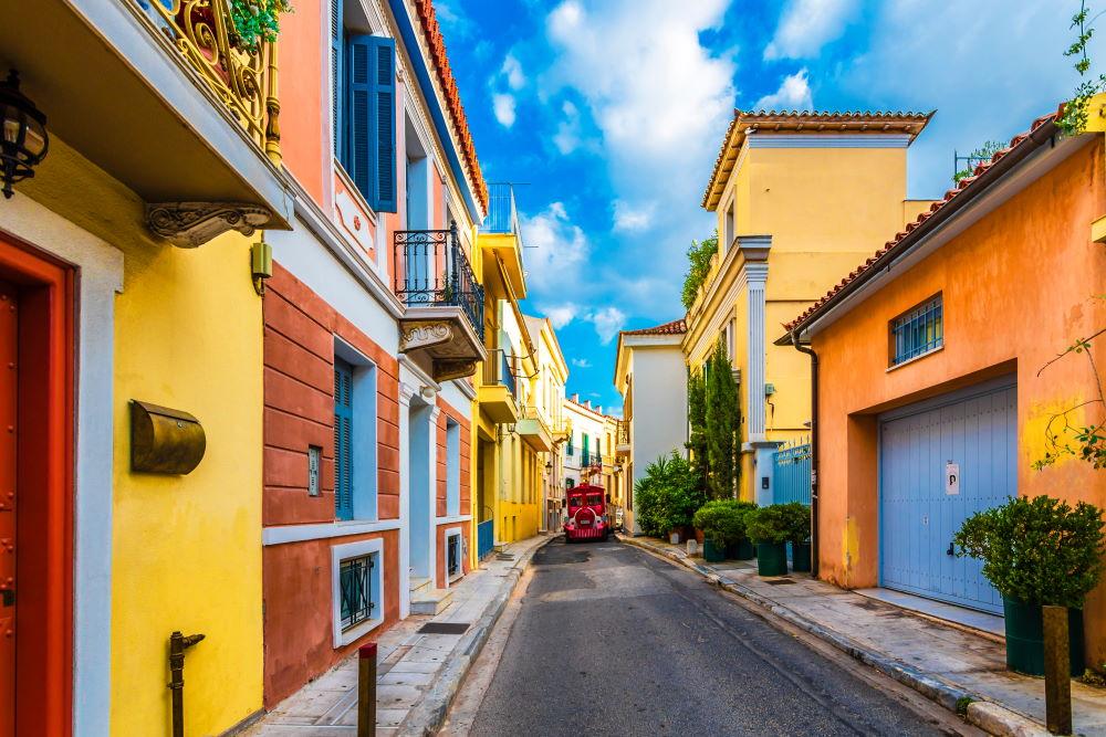 Фото: Район Плака в Афинах