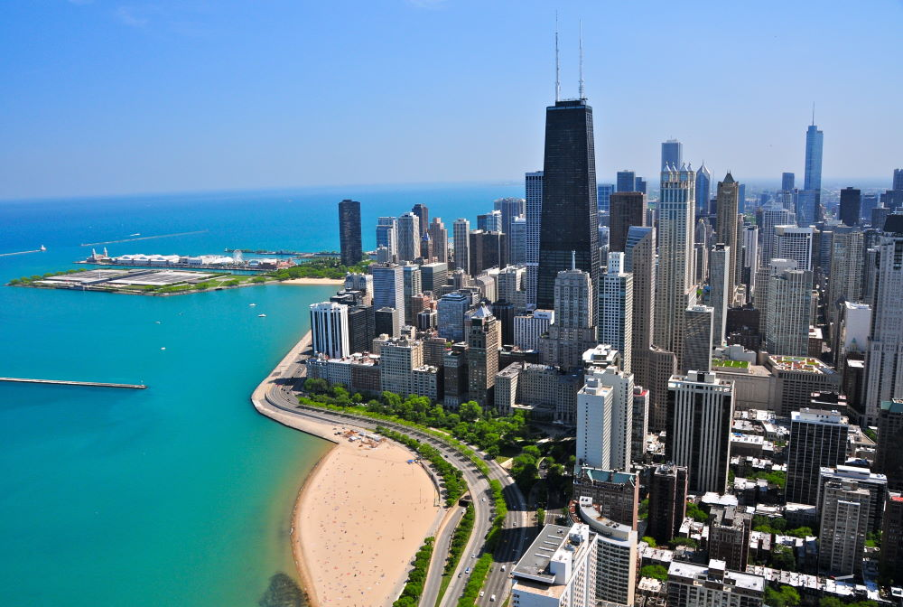 Фото: Центр Джона Хэнкока в Чикаго