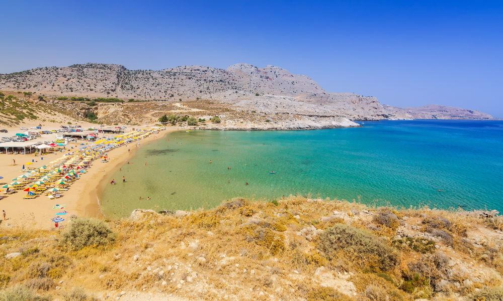 Фото: Пляж Стегна на Родосе