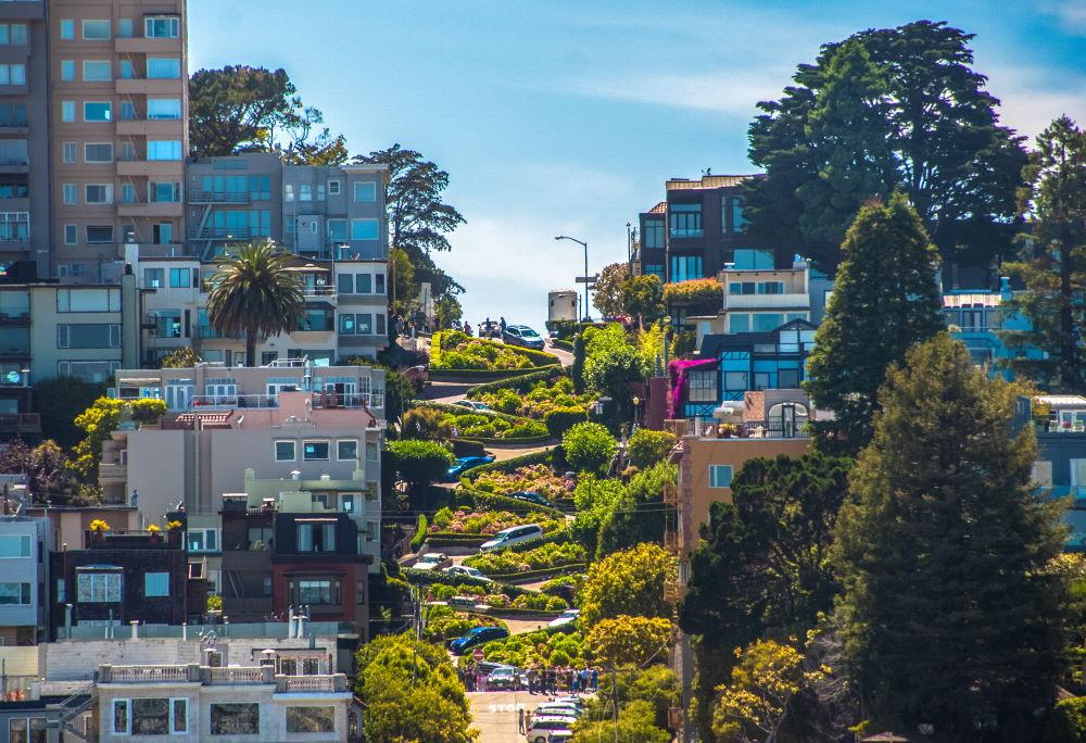 Фото: Улица Ломбард Стрит, Сан-Франциско