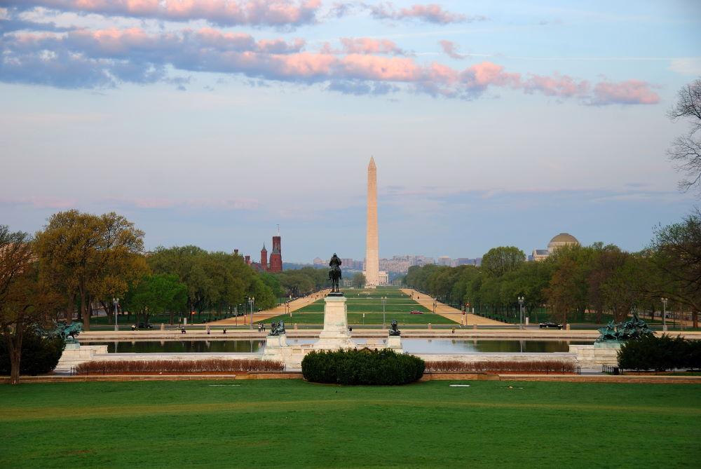 Фото: Национальная аллея в Вашингтоне